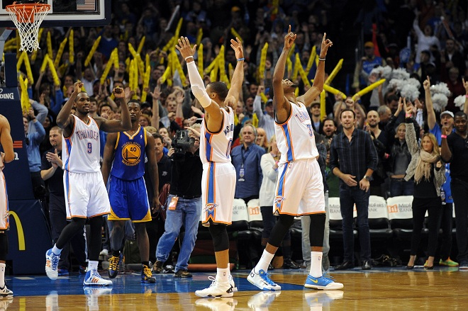 NBA: Golden State Warriors at Oklahoma City Thunder